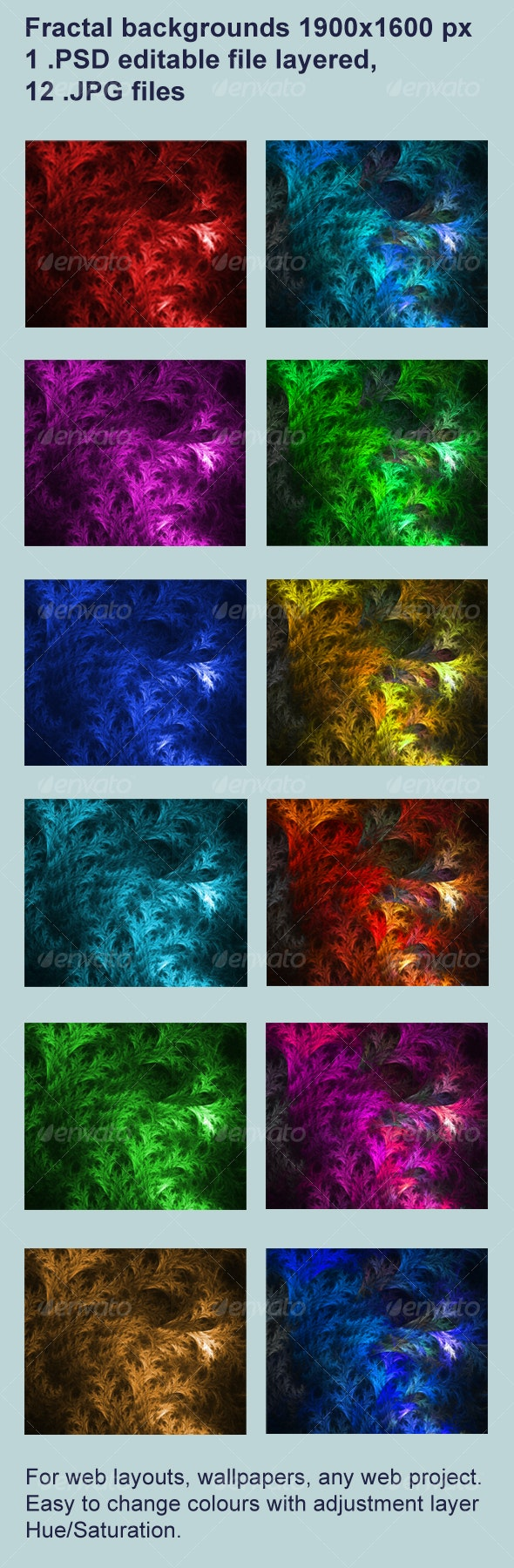 Fractal web background - Abstract Backgrounds