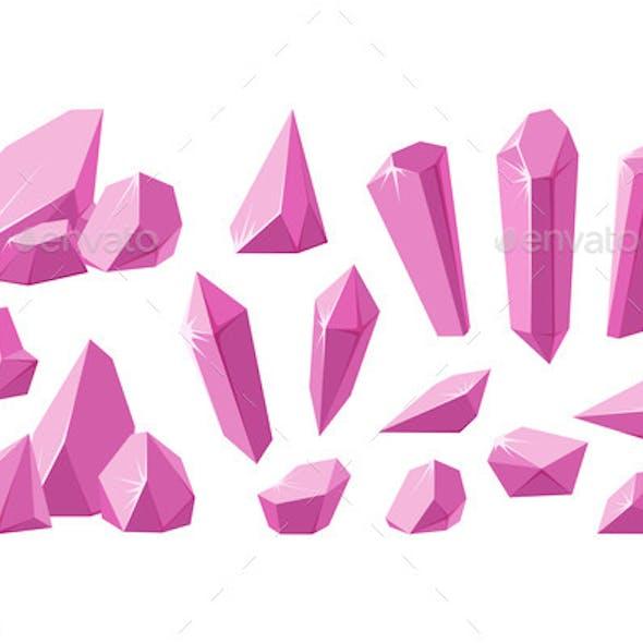 Crystals and Pink Gemstones