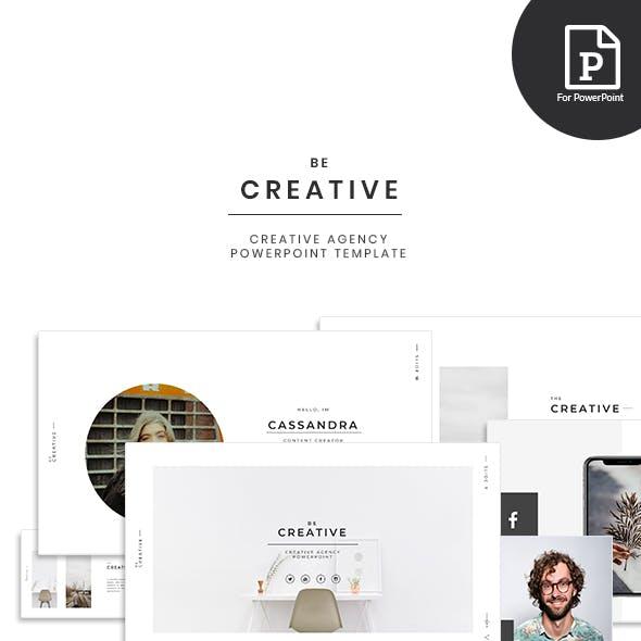 BeCreative - Creative Agency PowerPoint Template
