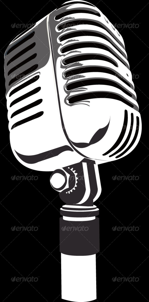 Old Fashioned Microphone - Man-made Objects Objects