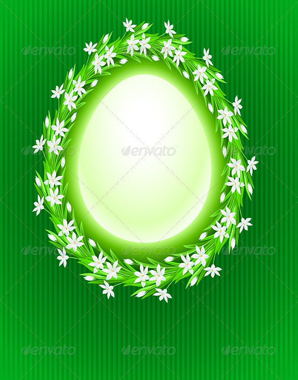 Spring egg composition - Decorative Symbols Decorative