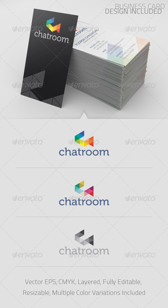 Chatroom Logo Template - Abstract Logo Templates