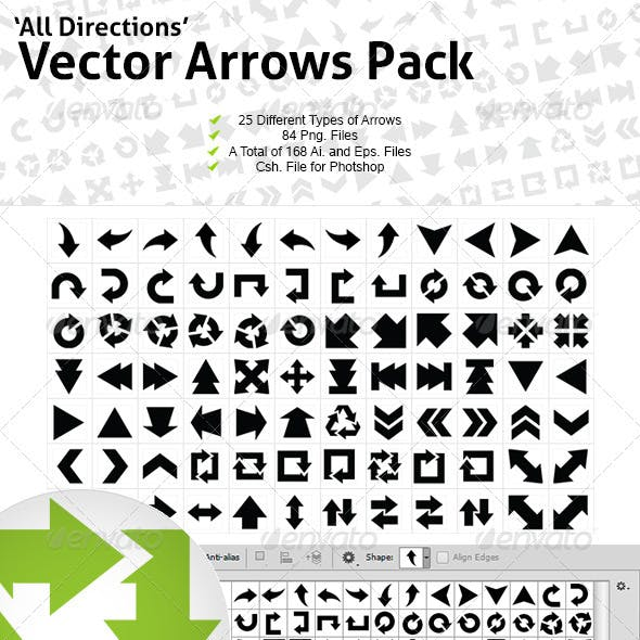 All Directions Vector Arrows Pack