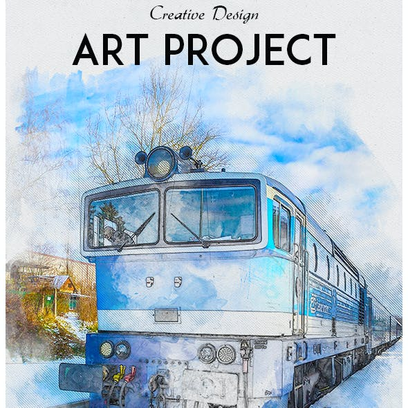 Art Project Photoshop Action