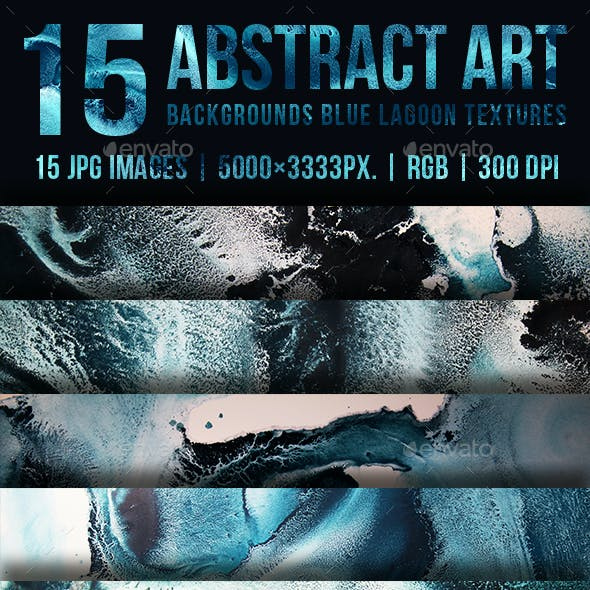 Abstract Art Backgrounds Blue Lagoon Textures