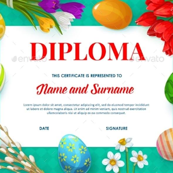 Kids Education Diploma or Certificate Template