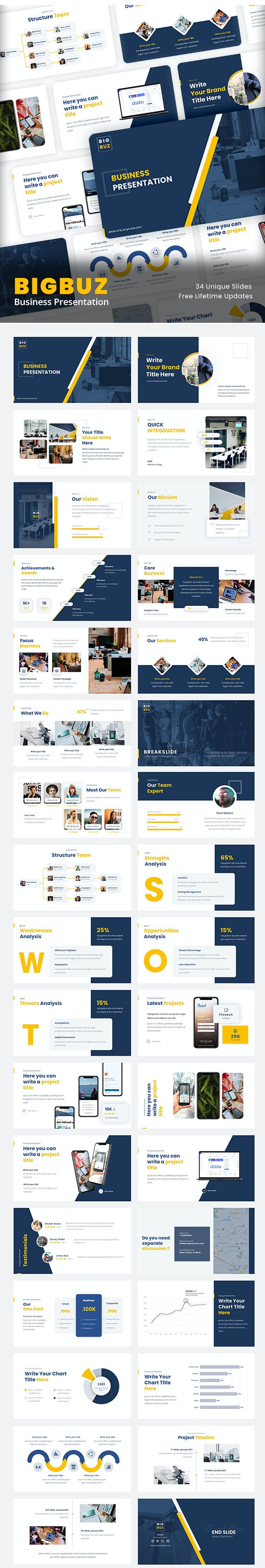 BigBuz - Business Presentation For Your Next Project - Business PowerPoint Templates