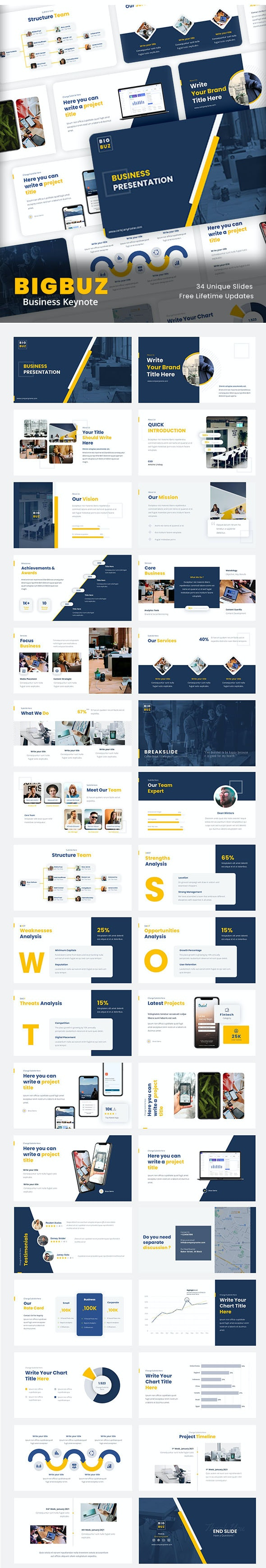 BigBuz - Business Keynote For Your Next Project - Business PowerPoint Templates