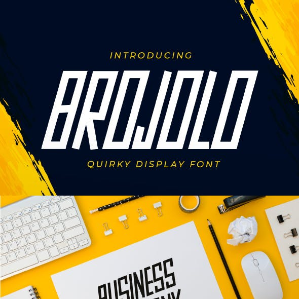 Brojolo - Quirky Display Font