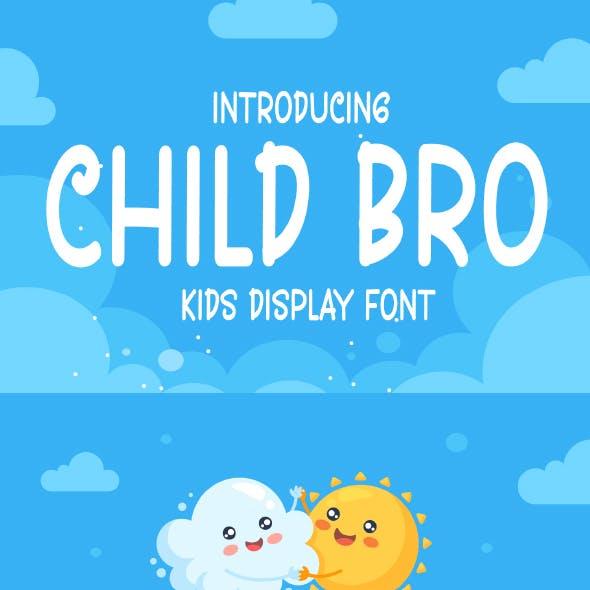 Child Bro - Kids Display Font
