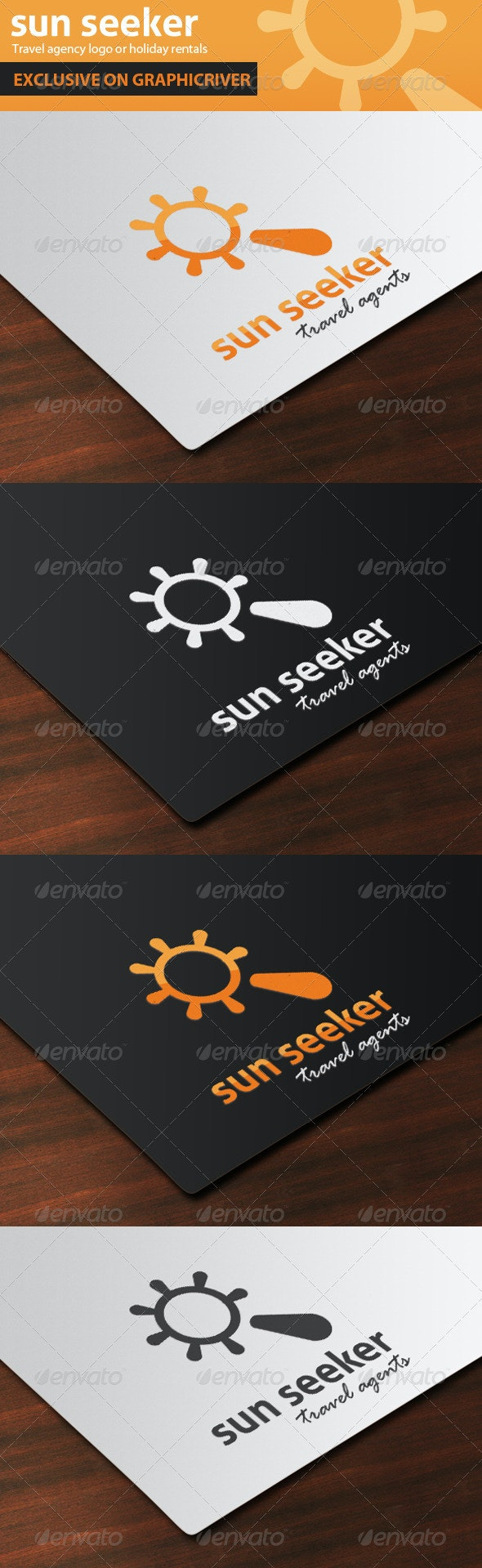 Sun Seeker Travel Agent Logo - Objects Logo Templates