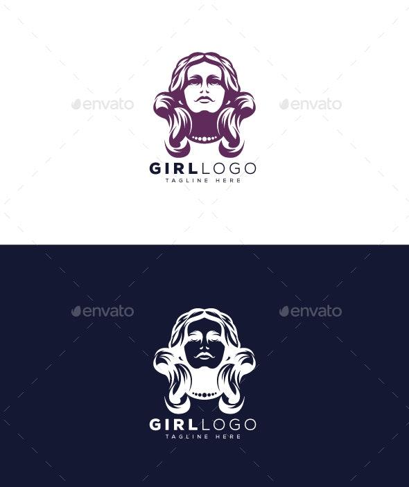 Girl Logo - Humans Logo Templates
