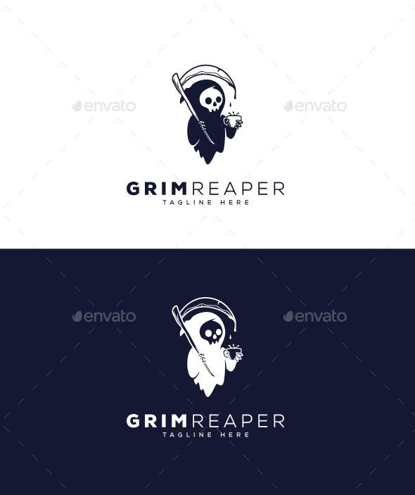 Grim Reaper Logo - Objects Logo Templates