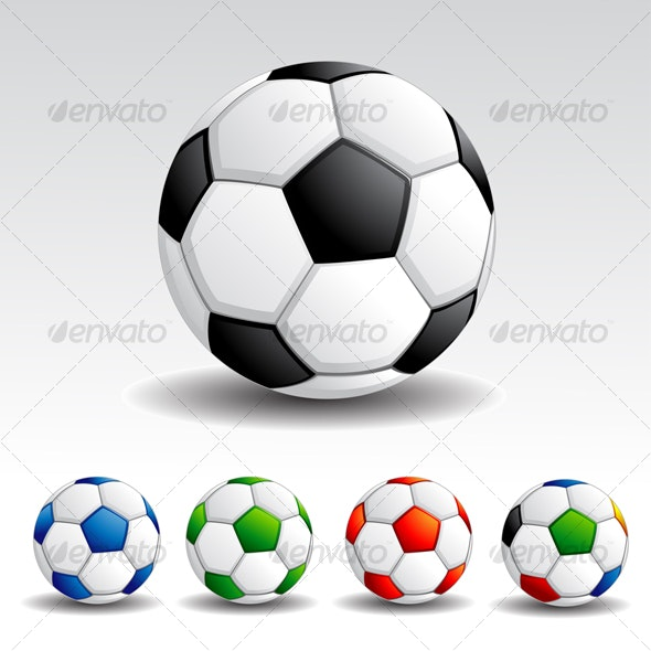 Colorful Soccer Ball - Man-made Objects Objects
