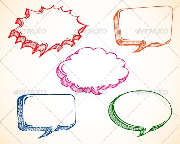 Speech Bubble Doodle - Decorative Symbols Decorative