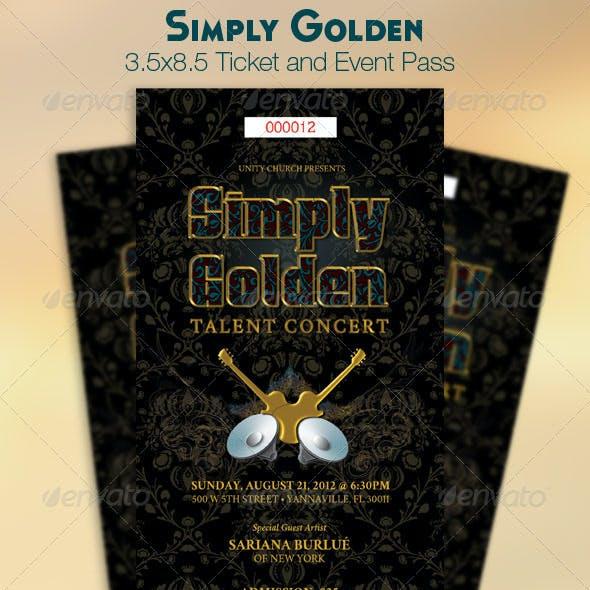 Golden Ticket Event Pass Template