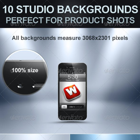 10 Studio Backgrounds with Bonus Shadows