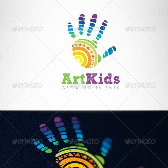 Art Kids Studio Creative Logo Template