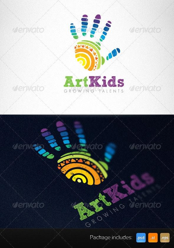 Art Kids Studio Creative Logo Template - Humans Logo Templates