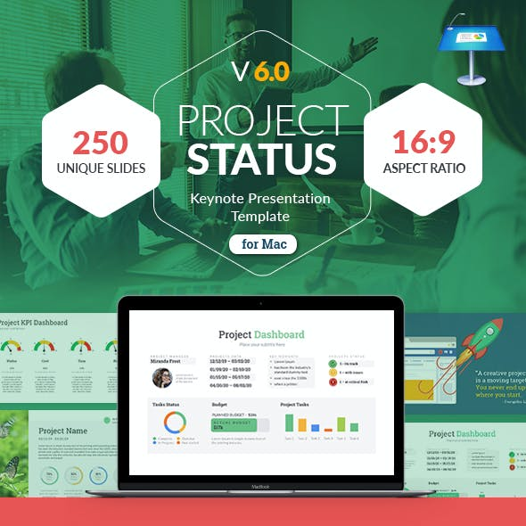 Project Status Keynote Presentation Template