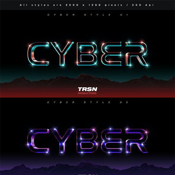 Cyber 3D Text Effect Vol 1