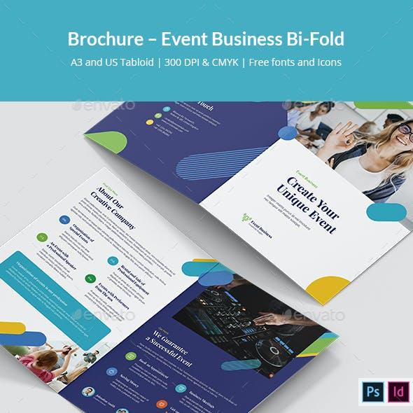 Brochure – Event Business Bi-Fold