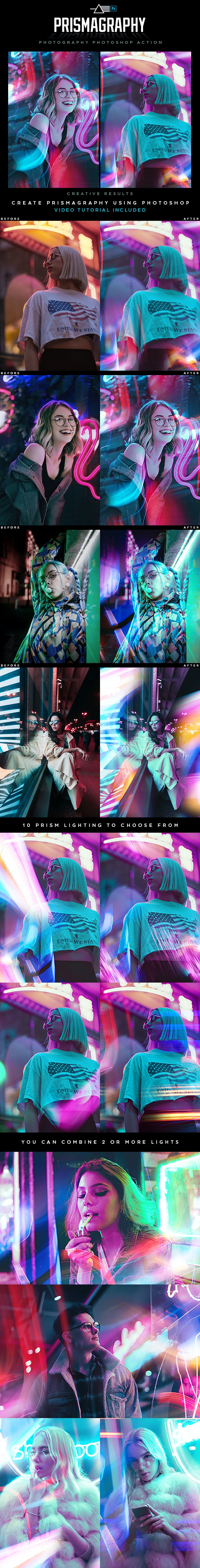 Prismagraphy Photoshop Action - Photo Effects Actions