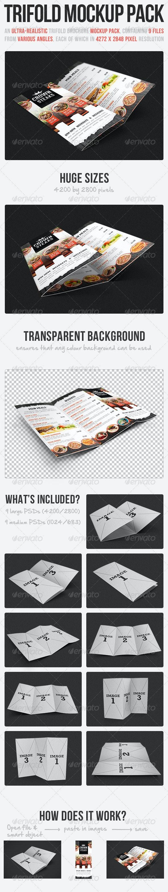 Trifold Brochure Mockup Pack - Brochures Print