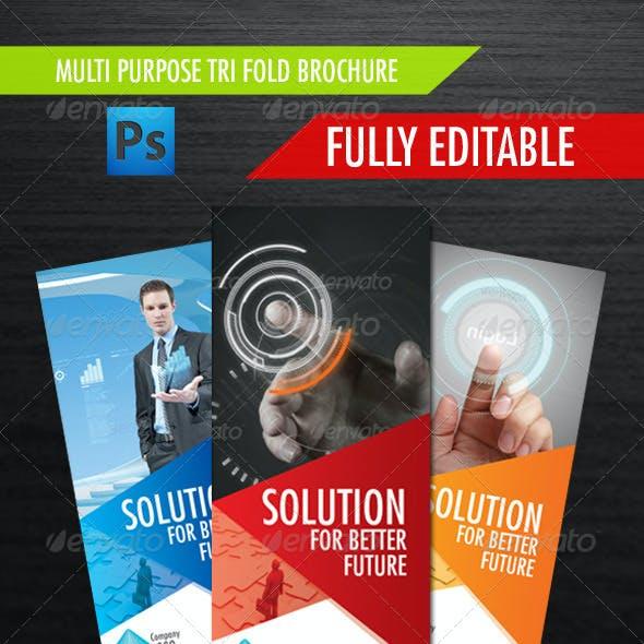 Multi Purpose Tri Fold Brochure