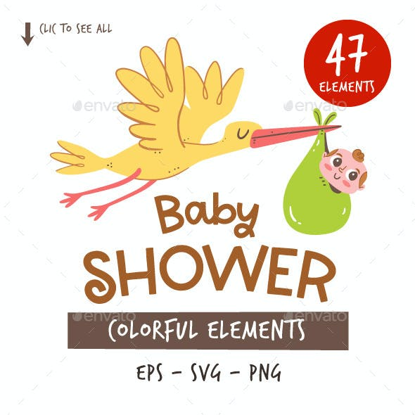 Baby Shower Clipart Set