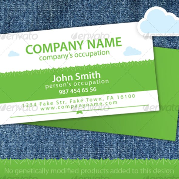 Green Leaves Organic Food Store Business Card