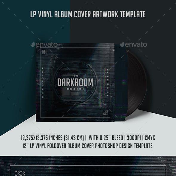 Darkroom LP Vinyl Album Cover Artwork Template