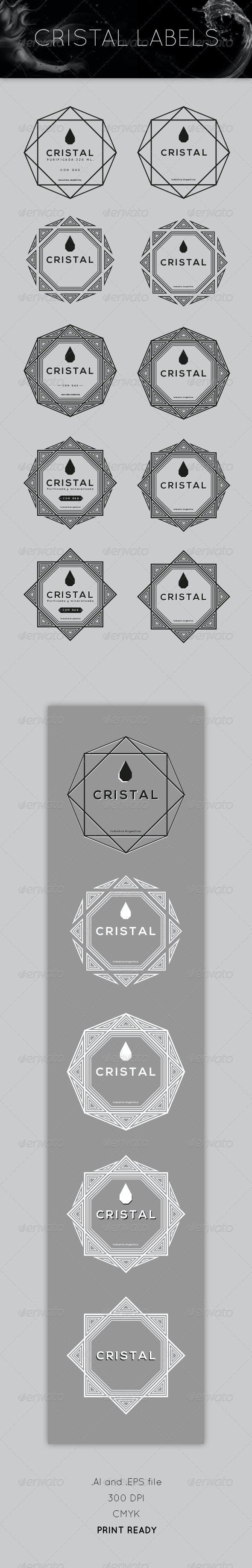 Cristal Labels - Decorative Vectors