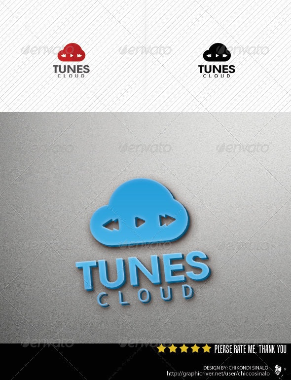 Cloud Tunes Logo Template - Abstract Logo Templates