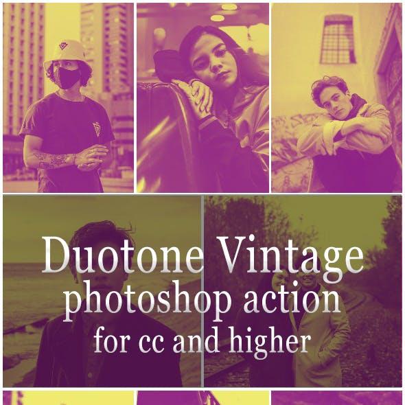 Duotone Vintage - Photoshop Action