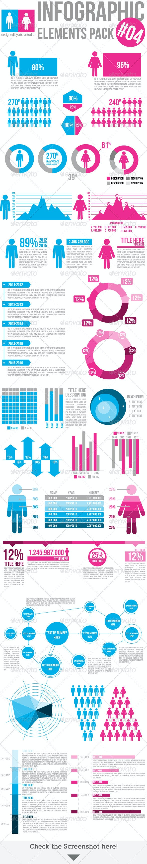 Infographic Elements Pack 04 - Infographics