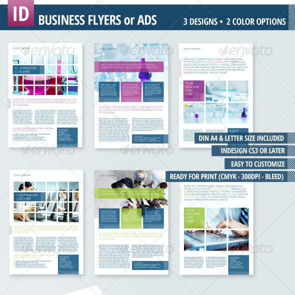 3 Business Flyers / Ads A4 + Letter