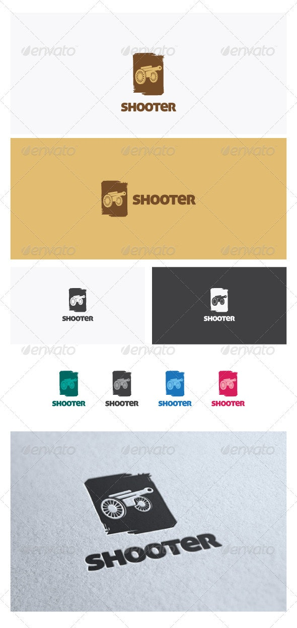 Shooter Logo Template - Objects Logo Templates