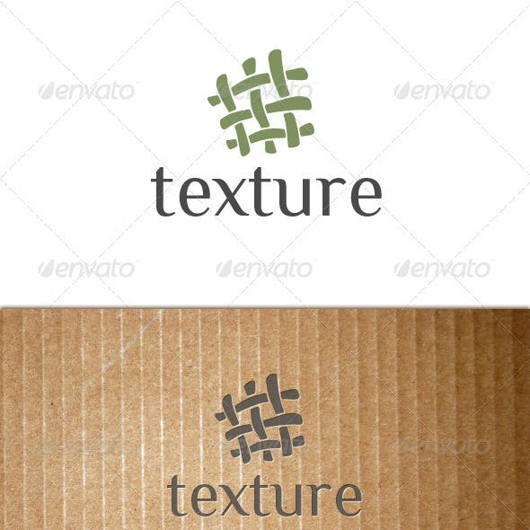 Texture (fabric, textile, tissue, cloth) logo