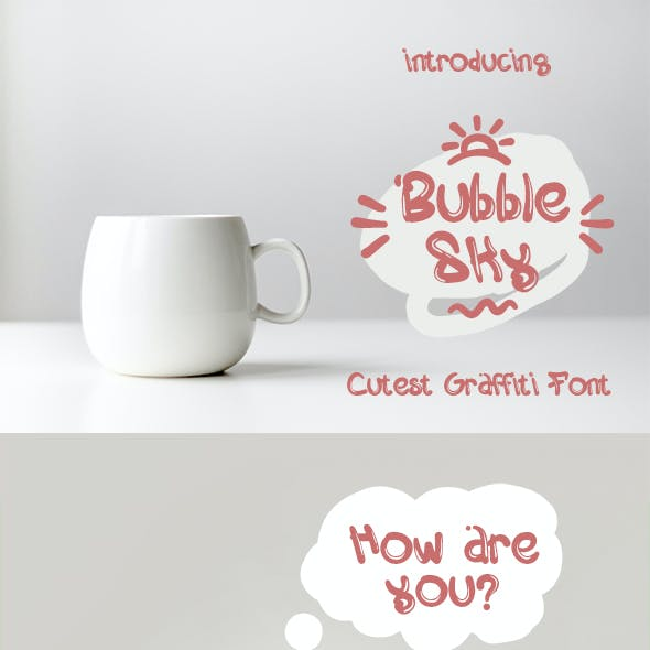 BubbleSky - Cutest Graffiti Font