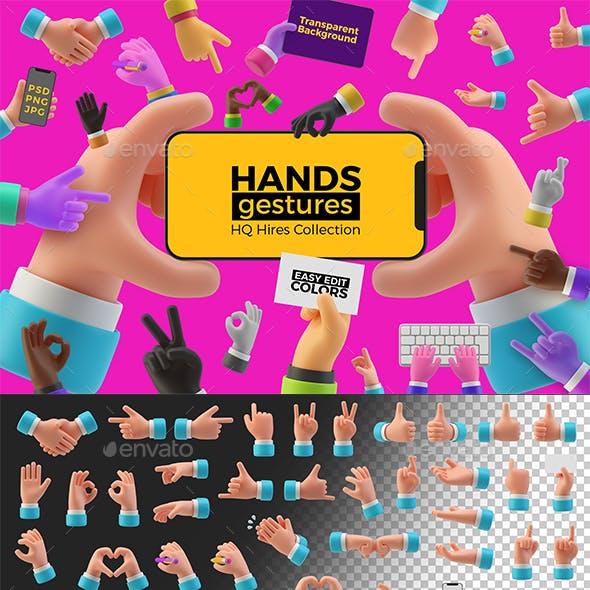 Hands Gestures 3D