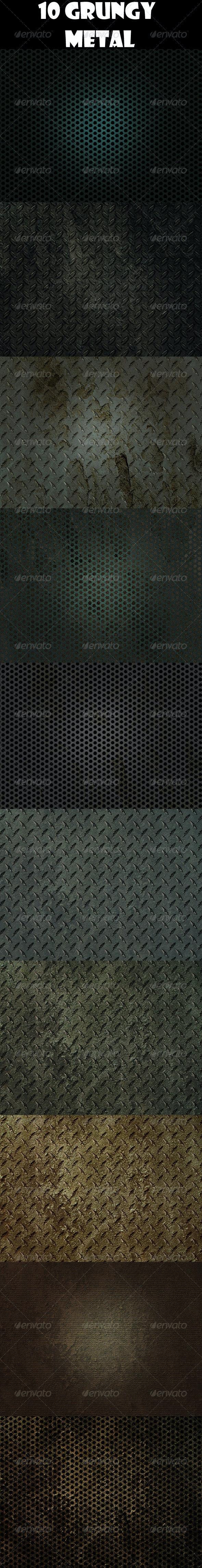 10 Grungy Metals - Industrial / Grunge Textures