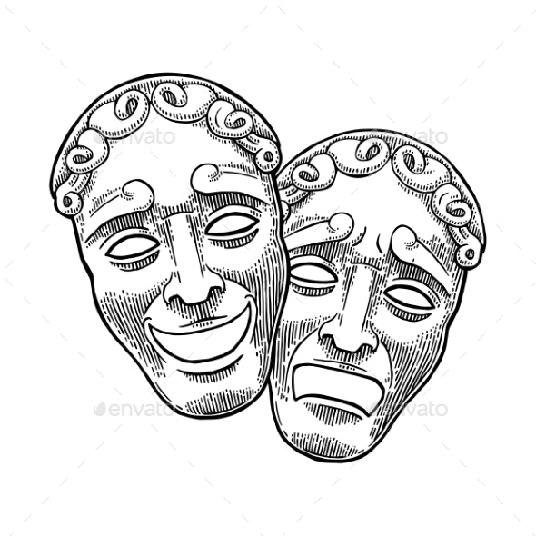 Comedy and Tragedy Theater Masks - Miscellaneous Characters