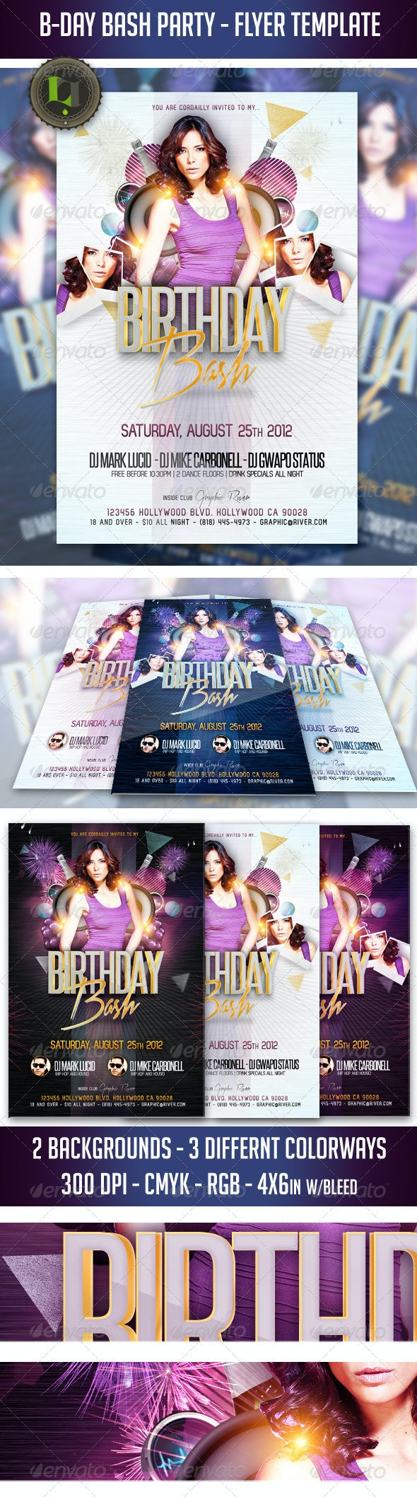 B-Day Bash Party - Flyer Template - Clubs & Parties Events