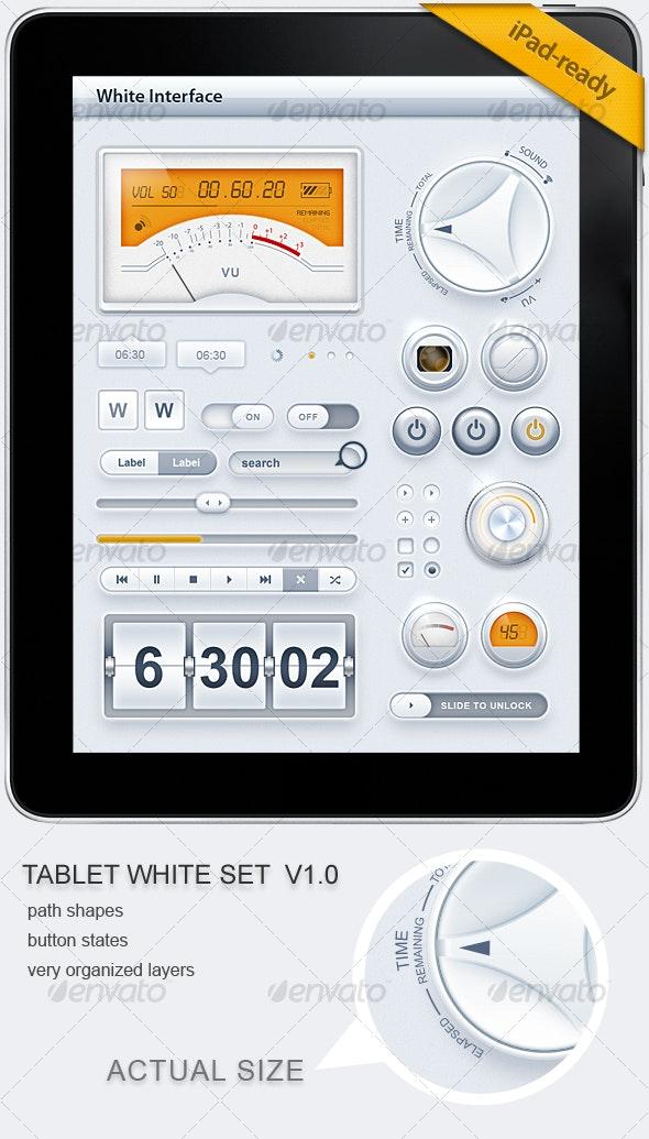 Tablet/Phone User Interface White SET