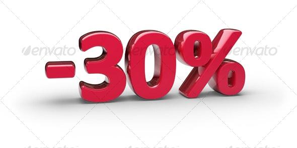 30% - Objects 3D Renders