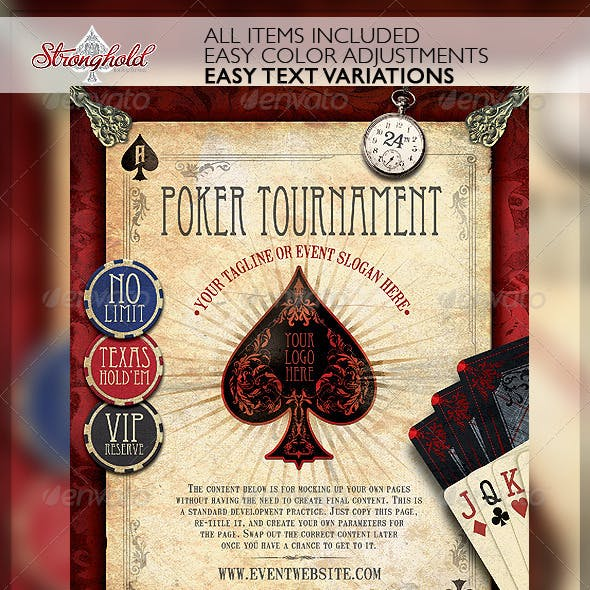 Vintage Poker Flyer Template