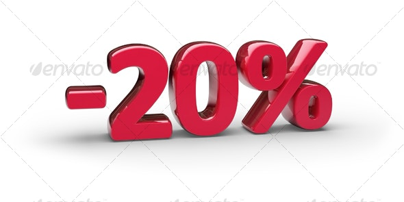 20% - 3D Backgrounds
