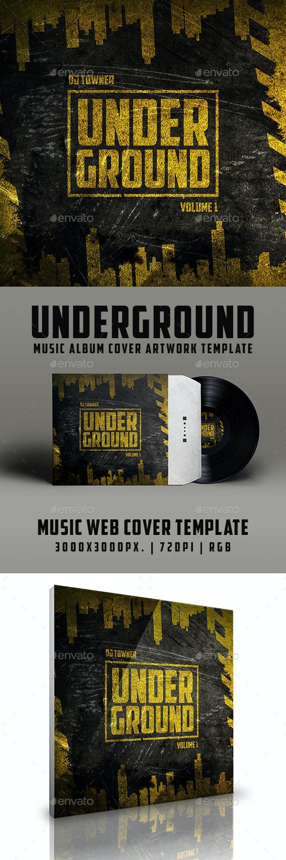 Underground Music Album Urban Grunge Cover Artwork Template - Miscellaneous Social Media