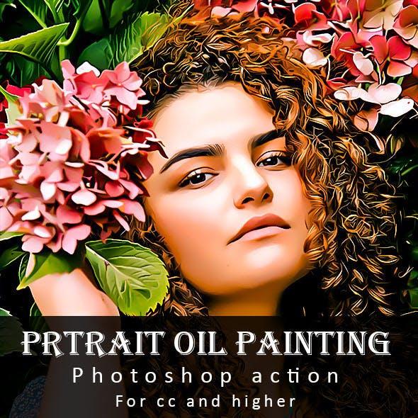 Portrait Oil Painting Photoshop Action